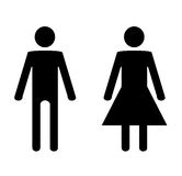 Man and Woman. Illustration of a silhouetted man and women Stock Photo