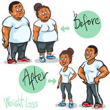 Man and Woman achieving their Weight-Loss goal Royalty Free Stock Images