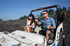 Man and woman adventure Stock Photos