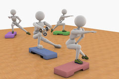 Man and  woman, aerobic exercise Royalty Free Stock Images