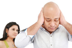 Man and woman angry Royalty Free Stock Photo
