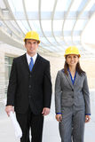 Man and Woman Architect Team Stock Photography