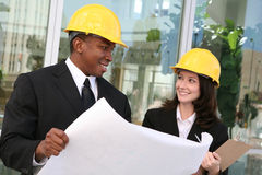 Man and Woman Architects Royalty Free Stock Photos