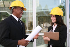 Man and Woman Architects Royalty Free Stock Image