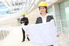Man and Woman Architects Stock Photos