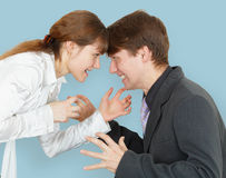 Man and woman arguing again Stock Photography