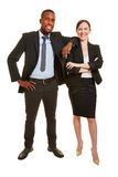 Man and woman as business people Royalty Free Stock Images