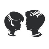 Man & Woman. Authors illustration in vector Stock Illustration