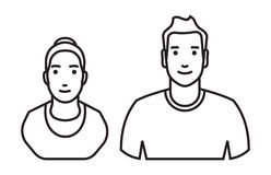 Man and woman Avatar vector icon Royalty Free Stock Photos