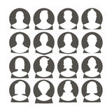 Man and woman avatars Royalty Free Stock Images