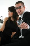 Man and woman in bar a. Man and women in bar Royalty Free Stock Photo