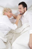 Man and woman in bed. Stock Photography