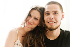 Man and woman being playful Royalty Free Stock Photography