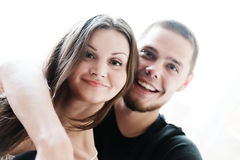 Man and woman being playful Stock Photo