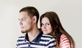 Man and woman being playful Stock Photography