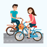 Man and woman with bike. Stock Photography