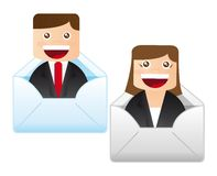 Man and woman business Royalty Free Stock Photography
