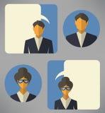 Man and woman business avatars Stock Photo