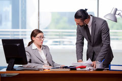 The man and woman in business concept Stock Images