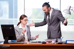 The man and woman in business concept Royalty Free Stock Images