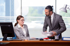 The man and woman in business concept Stock Image