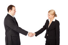 Man and woman business handshake Royalty Free Stock Photography