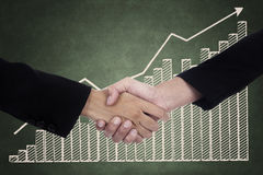 Man and Woman Business Handshake Stock Photo