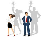 Man and woman - business leaders Stock Photography