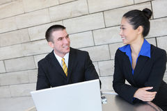 Man and Woman Business Team Royalty Free Stock Photography