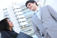 Man and Woman Business Team Stock Photo