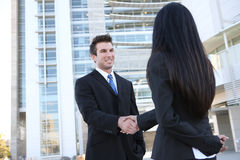 Man and Woman Business Team Stock Photos