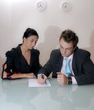 man and woman business team Royalty Free Stock Image