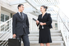 Man and Woman Business Team Stock Photography