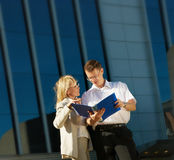 A man and woman business team Stock Photos