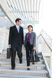 Man and Woman Business Team Royalty Free Stock Photos