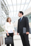 Man and Woman Business Team at Office Stock Image