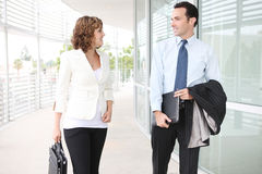Man and Woman Business Team at Office Royalty Free Stock Images