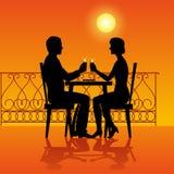Man Woman Cafe evening Royalty Free Stock Photo