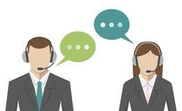 Man, woman, call center Stock Image