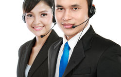 Man and woman calling Stock Image