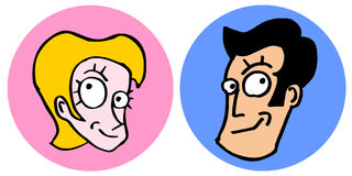 Man and woman cartoon Royalty Free Stock Images