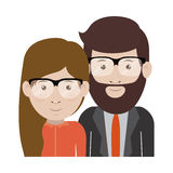 Man and woman cartoon with glasses design Stock Photo