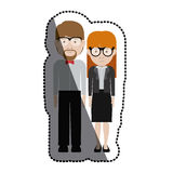 Man and woman cartoon with glasses design Stock Images