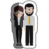 Man and woman cartoon with glasses design Stock Photos