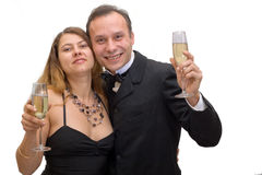 Man and woman celebrating Stock Images