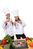 Man and Woman Chefs Royalty Free Stock Photography