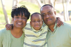 Man, Woman and Child Stock Photography