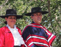 Man And Woman In Chilean Clothing Stock Photos