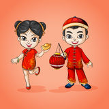 Man and woman from China Royalty Free Stock Images