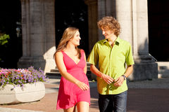 Man and woman in the city Royalty Free Stock Images
